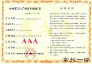 Enterprise credit (grade) certificate